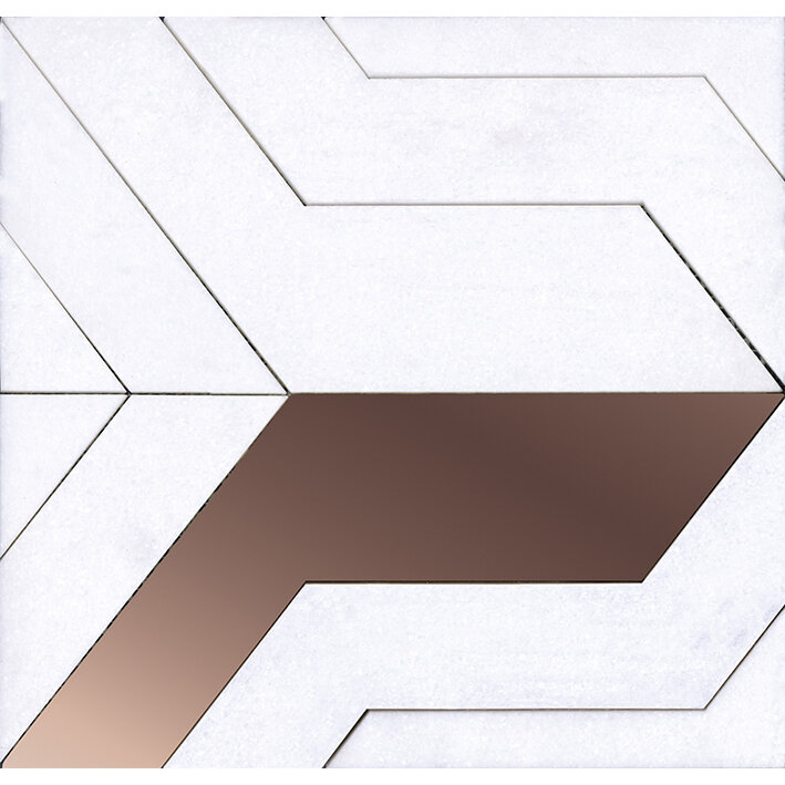Focus White Copper 29x28x0,98 cm